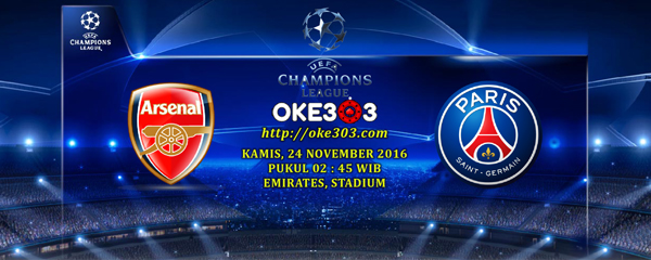 prediksi skor arsenal vs psg 24 november 2016